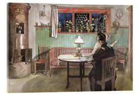 Quadro em acrílico  When the Children have Gone to Bed - Carl Larsson