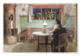 Póster Premium  When the Children have Gone to Bed - Carl Larsson