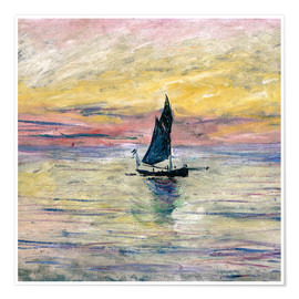 Póster Premium  Sailboat evening - Claude Monet