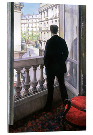 Quadro em acrílico  Man at the Window - Gustave Caillebotte