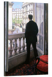 Quadro em alumínio  Man at the Window - Gustave Caillebotte