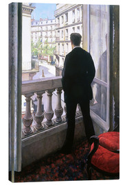 Quadro em tela  Man at the Window - Gustave Caillebotte