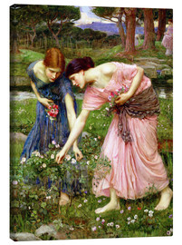 Quadro em tela  Rose picking in May - John William Waterhouse
