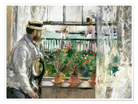 Póster Premium  Manet on the Isle of Wight - Berthe Morisot