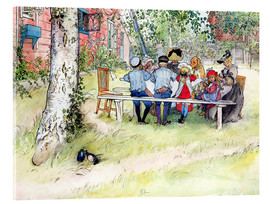 Quadro em acrílico  Breakfast under the big birch - Carl Larsson