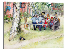 Quadro em alumínio  Breakfast under the big birch - Carl Larsson