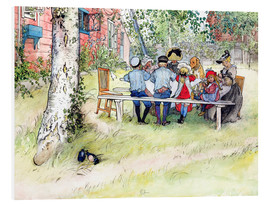 Quadro em PVC  Breakfast under the big birch - Carl Larsson