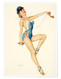 Póster Premium  US Air Force Girl - Alberto Vargas