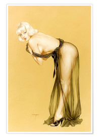 Póster Premium  Vargas Girl pin up, September 1962 - Alberto Vargas