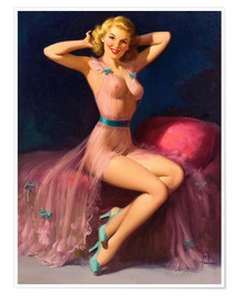 Póster Premium  Pin Up in Pink - Art Frahm