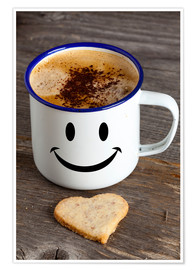 Póster Premium Cup with smiley face