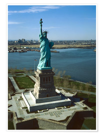 Póster Premium  Statue of Liberty in New York, 1978