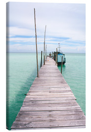 Quadro em tela  Wooden jetty on tropical exotic island - Alejandro Moreno de Carlos