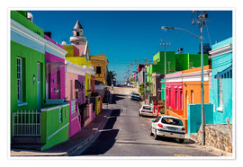 Póster Premium Bo Kaap, Cape Town, South Africa