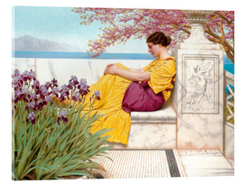 Quadro em acrílico  Under The Blossom That Hangs On The Bough - John William Godward