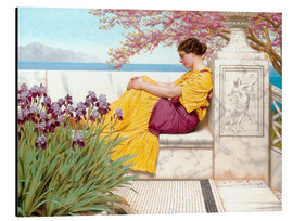 Quadro em alumínio  Under The Blossom That Hangs On The Bough - John William Godward