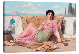 Quadro em tela  A Quiet Pet - John William Godward