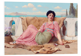 Quadro em PVC  A Quiet Pet - John William Godward