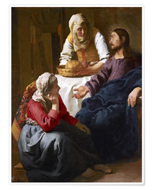Póster Premium  Christ in the house of Martha and Mary - Jan Vermeer