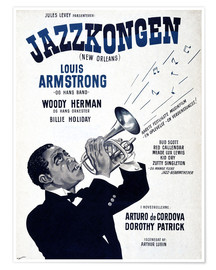 Póster Premium  Louis Armstrong New Orleans