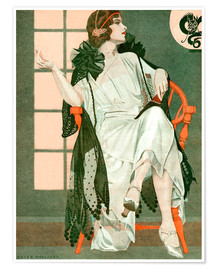 Póster Premium  Lady writing - Clarence Coles Phillips