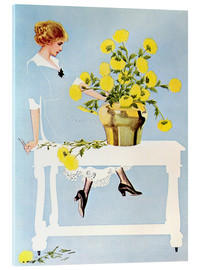 Quadro em acrílico  Housekeeper with bouquet - Clarence Coles Phillips