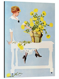 Quadro em alumínio  Housekeeper with bouquet - Clarence Coles Phillips