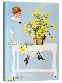 Quadro em tela  Housekeeper with bouquet - Clarence Coles Phillips