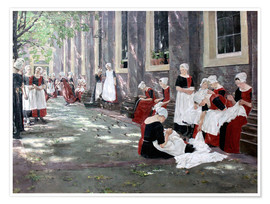 Póster Premium  Orphanage in Amsterdam - Max Liebermann