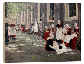 Quadro de madeira  Orphanage in Amsterdam - Max Liebermann