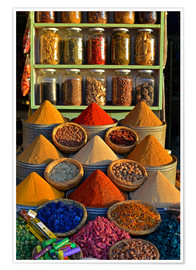 Póster Premium  Spices from Morocco - HADYPHOTO