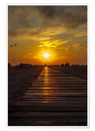 Póster Premium  Evening sun in St Peter Ording on the North Sea - Dennis Stracke