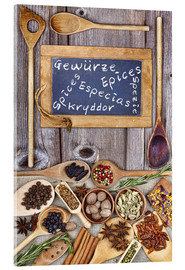 Quadro em acrílico  Spices in different languages - Thomas Klee
