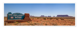 Póster Premium Monument Valley USA Panorama III