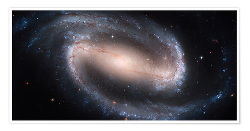 Póster Premium Barred Spiral Galaxy NGC 1300