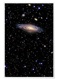 Póster Premium Spiral galaxy in the constellation Pegasus