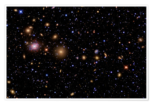 Póster Premium The Perseus Galaxy Cluster