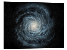 Quadro em PVC  face-on view of the Milky Way - Ron Miller