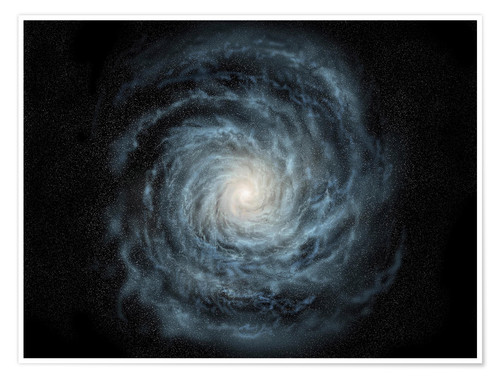 Póster Premium face-on view of the Milky Way