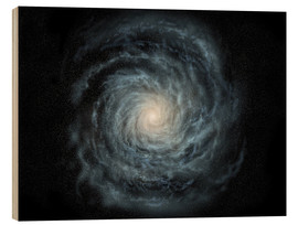 Quadro de madeira  face-on view of the Milky Way - Ron Miller