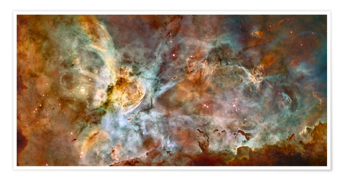 Póster Premium The central region of the Carina Nebula