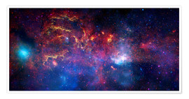 Póster Premium central region of the Milky Way galaxy