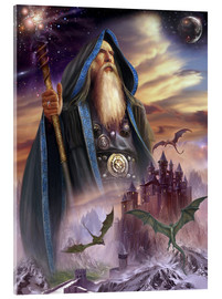 Quadro em acrílico  The high Mage - Dragon Chronicles