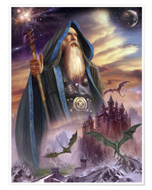Póster Premium  The high Mage - Dragon Chronicles