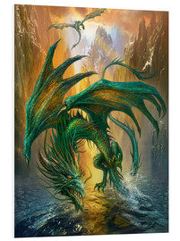 Quadro em PVC  Dragon of the lake - Dragon Chronicles