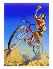 Póster Premium  Mountain bike - Extreme Zombies