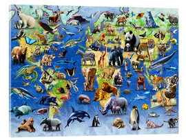 Quadro em acrílico  One Hundred Endangered Species - Adrian Chesterman