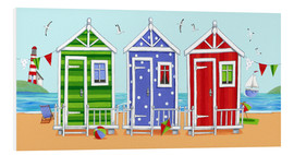 Quadro em PVC  Colorful beach huts - Peter Adderley