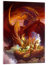 Quadro em acrílico  Children of the Dragon - Jeff Easley