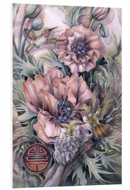 Quadro em PVC  Love is life sweetest flower - Jody Bergsma